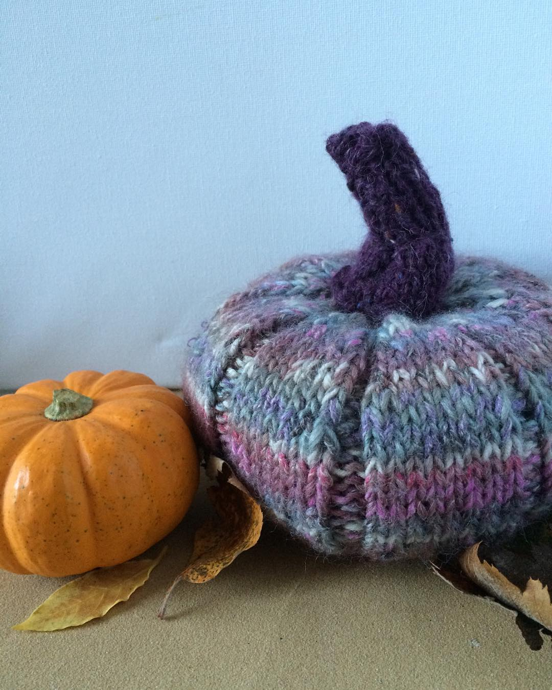 knitted Pumpkin finished! I bought some pumpkin orange wool todayhellip