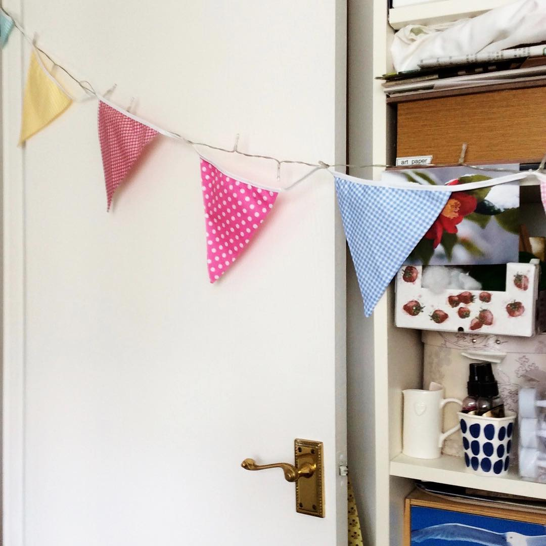 I hung my new bunting across my door after ithellip