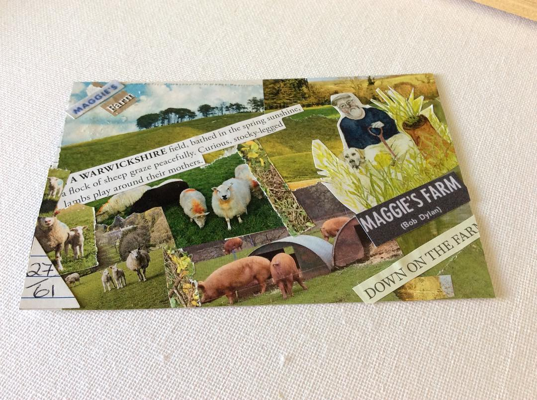 ICAD Day 2761 Prompt is Farm Paper collage I reallyhellip