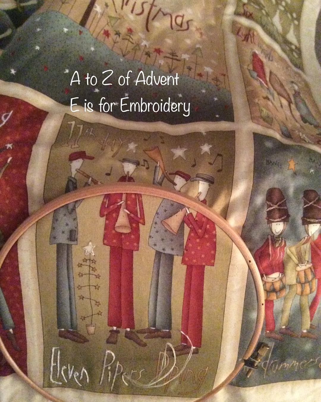 E is for Embroidery Almost finished! For jennifercockcroft everydaycreativeatoz Continuehellip